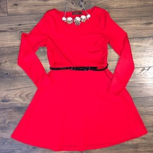 The Limited Long Sleeve Red Dress Size Medium